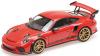 ■【ミニチャンプス】 1/18 ポルシェ 911 GT3RS (991.2) 2019 レッド/ゴールドホイール [155068220]※開閉機構なし