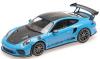 ■【ミニチャンプス】 1/18 ポルシェ 911 GT3RS (991.2) 2019 ブルー/ヴァイザッハ パッケージ/ゴールドマグネシウムホイール [155068222]※開閉機構なし