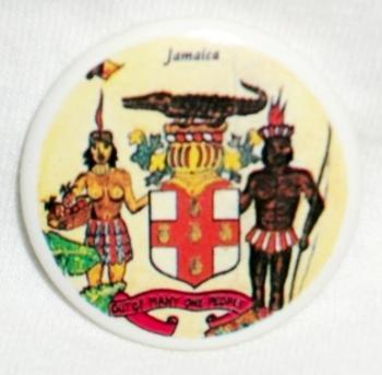 ジャマイカ国章 缶バッジ- レゲ...