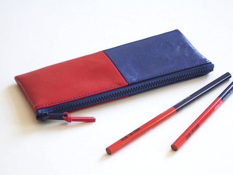 赤青ペンケース55-flat