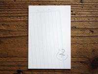 絵かきうたポストカード/アヒル