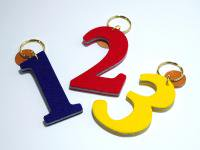 Felt key ring Number
