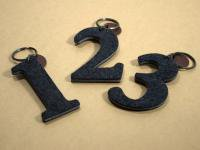 Felt key ring Number/MONO