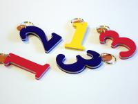 【カラーオーダー】Felt key ring Number