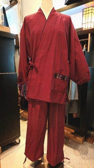 久留米作務衣(赤)
