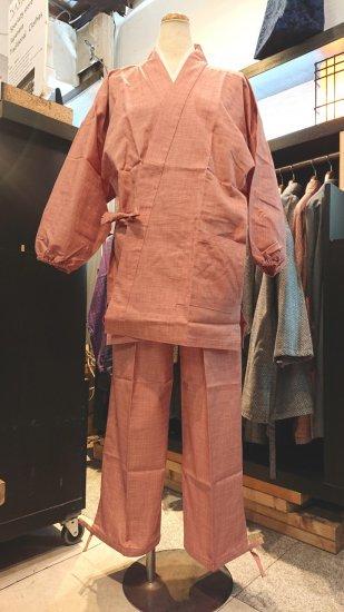 女性用作務衣(ピンク色)