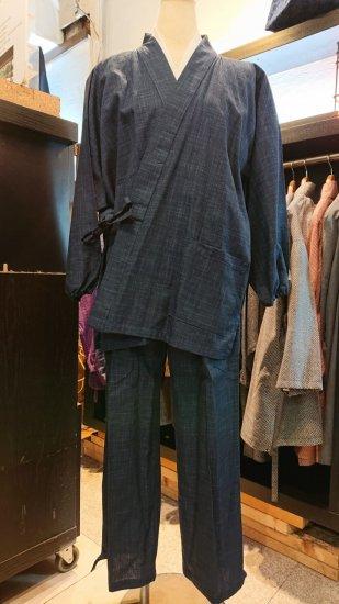 女性用作務衣(紺色)