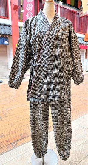 女性用作務衣(市松柄)