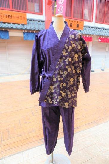 女性用作務衣(ひょうたん)紫色