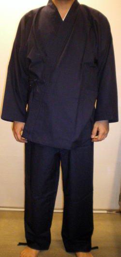 民芸作務衣(紺)