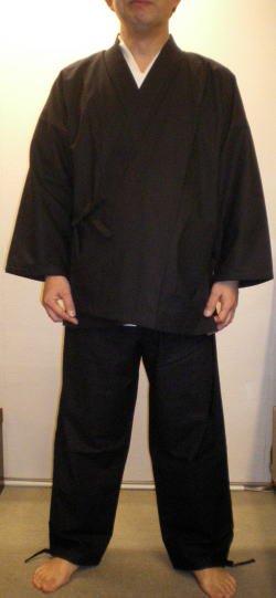 民芸作務衣(黒)